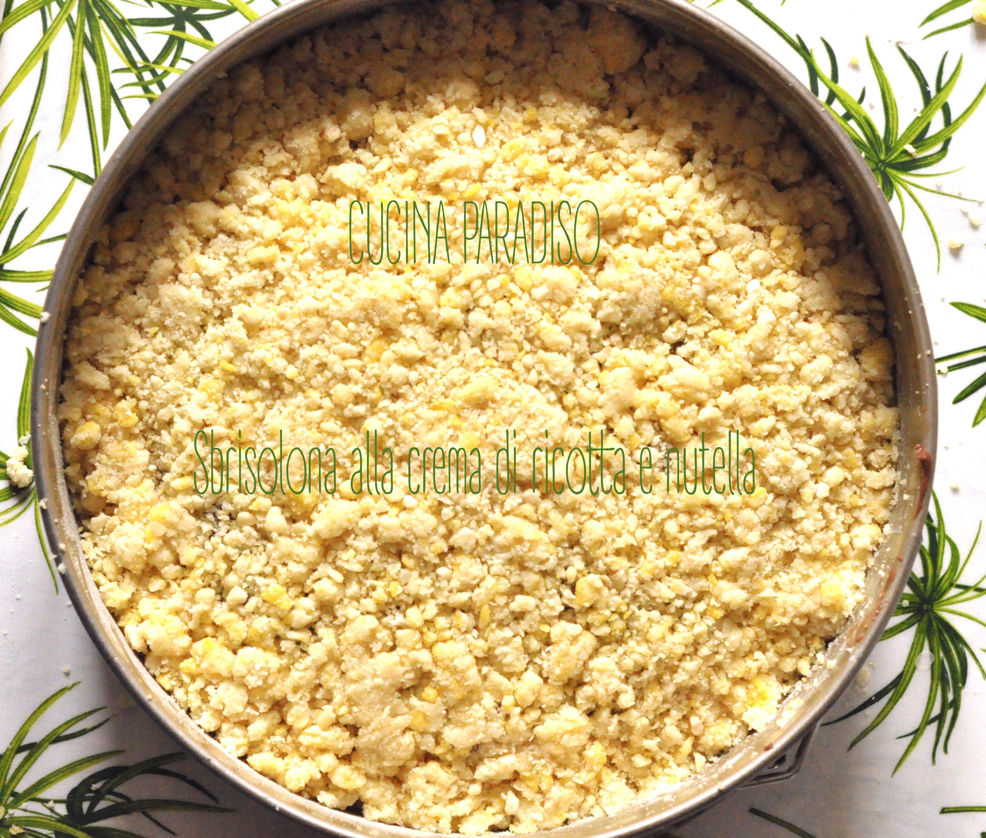 Sbrisolona alla crema di ricotta e nutella3