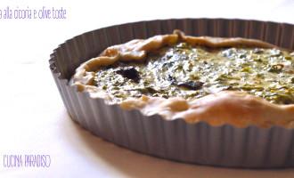 Torta alla cicoria e olive toste2