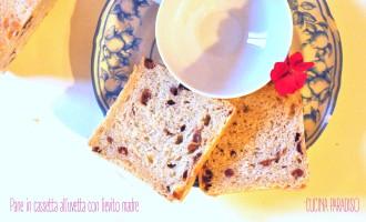 Pane in cassetta all'uvetta con lievito madre3