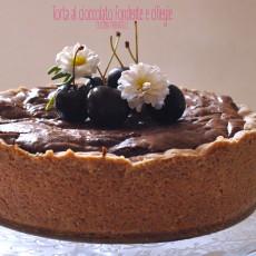 Torta al cioccolato fondente e ciliegie