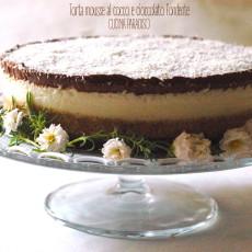 Torta mousse al cocco e cioccolato fondente