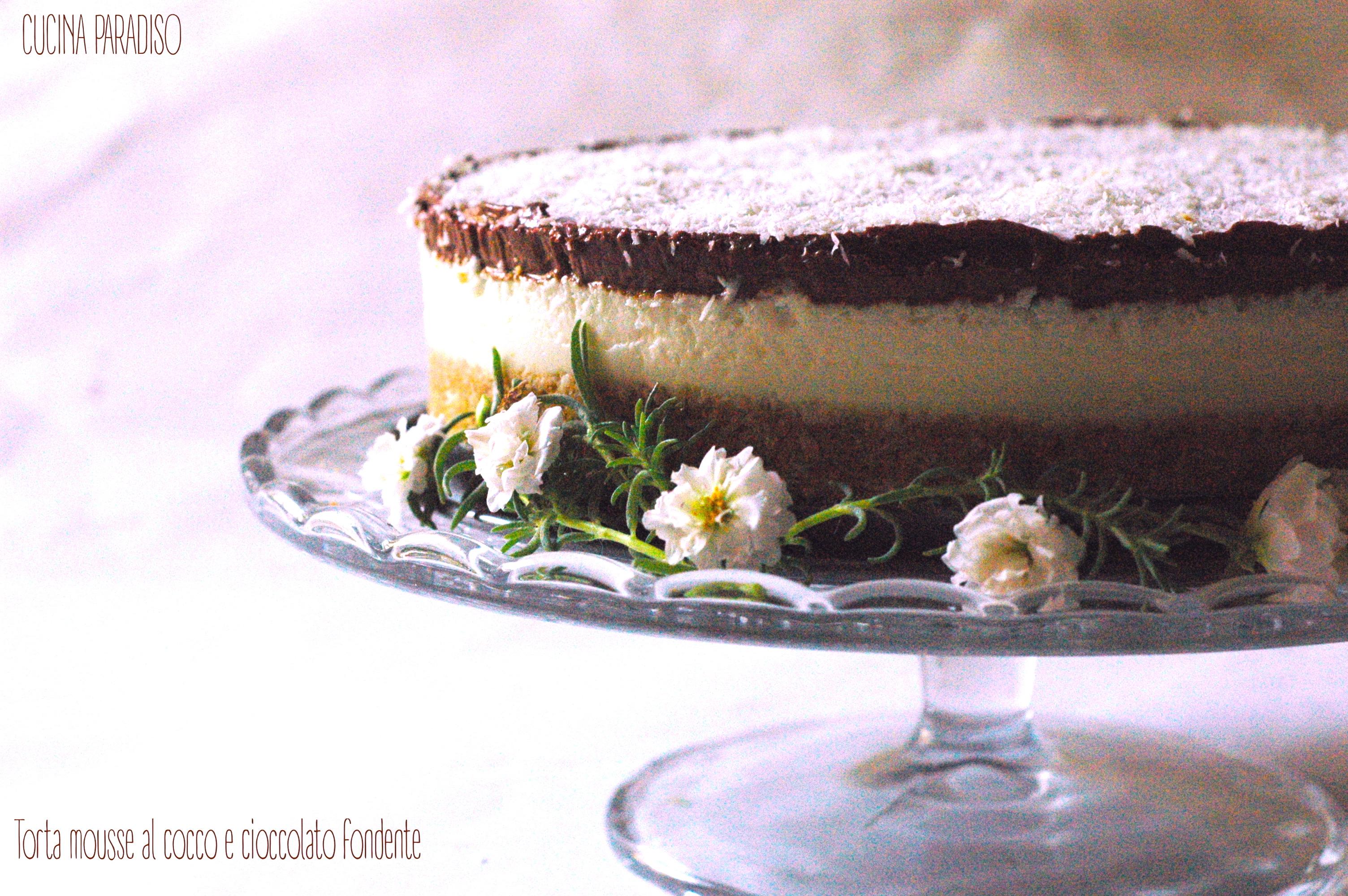 Torta mousse al cocco e cioccolato fondente3