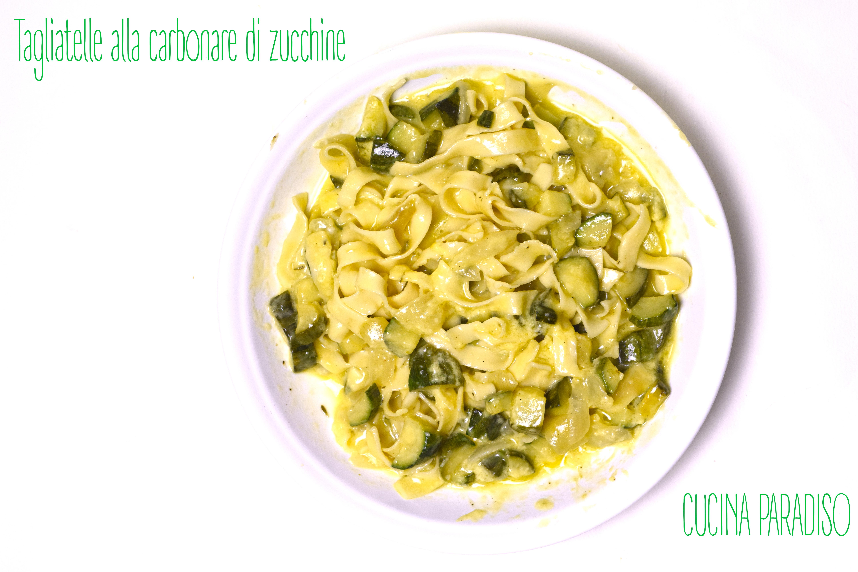 Tagliatelle alla carbonare di zucchine
