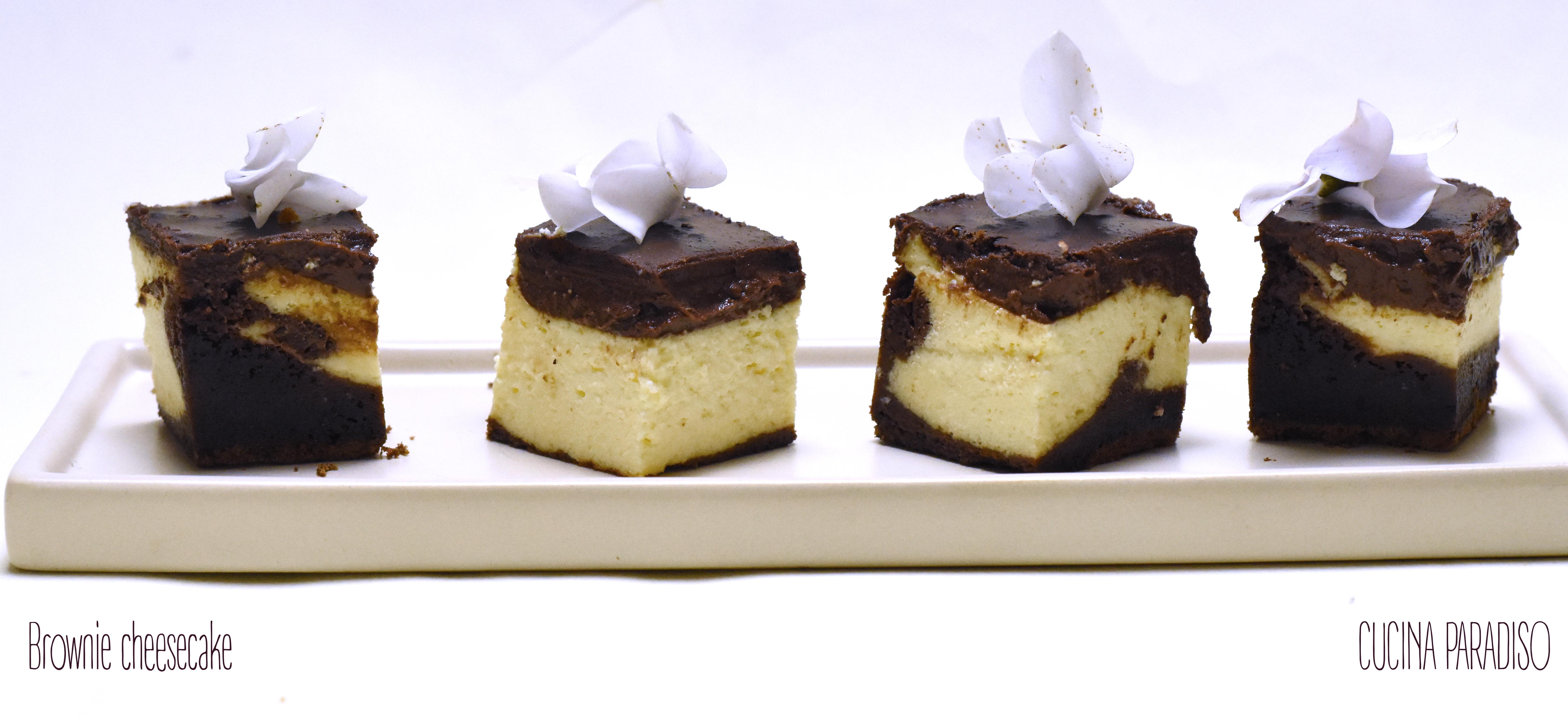 Brownie cheesecake 4