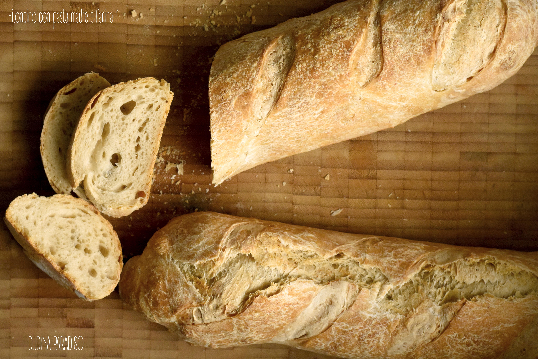 Filoncino con pasta madre e farina 1 2