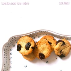 Cookies all'olio, zucchero di canna e cramberries