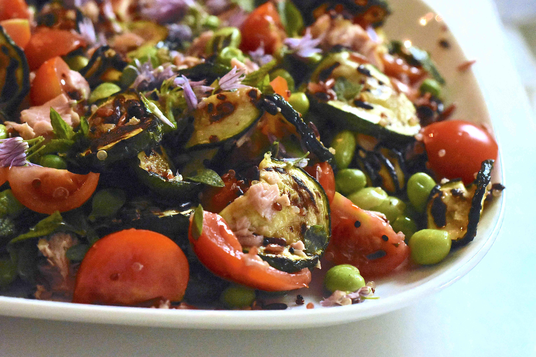 Insalata di quinoa e riso rosso al pesto di erbe3